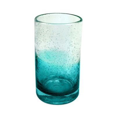 Ombre Bubble Highball Glass in Teal