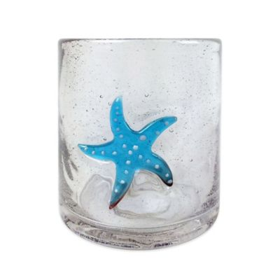 Bubble Starfish Double Old Fashioned Glass