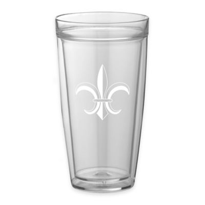 Kraftware™ Double Wall 22 oz. Tall Fleur De Lis Glasses (Set of 4)