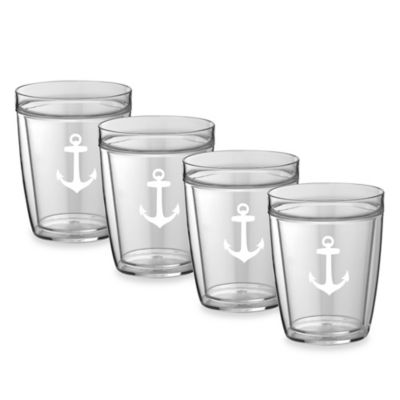 Kraftware™ Double Wall 14 oz. Short Anchor Glasses (Set of 4)