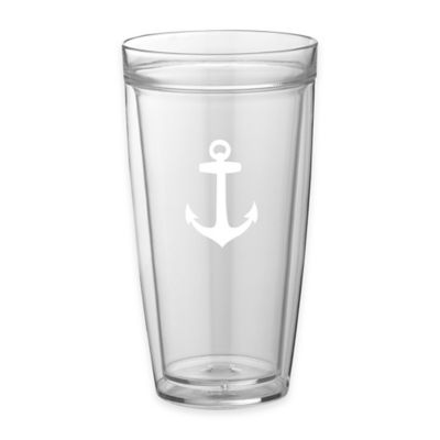 Kraftware™ Double Wall 22 oz. Tall Anchor Glasses (Set of 4)