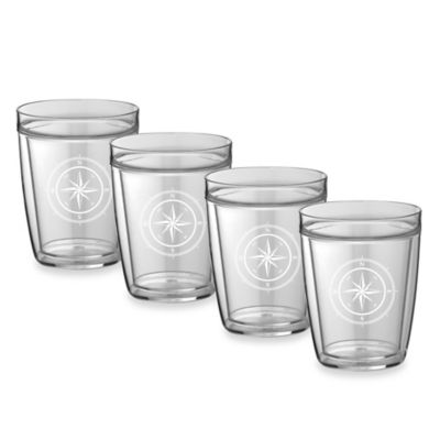 Kraftware™ Double Wall 14 oz. Short Compass Point Glasses (Set of 4)