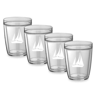 Kraftware™ Double Wall 14 oz. Short Sail Boat Glasses (Set of 4)