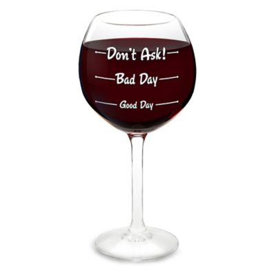 Big Mouth Toys How Is Your Day Wine Glass