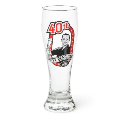 Big Mouth Toys Milestone Happy 40th Birthday Pilsner Glass