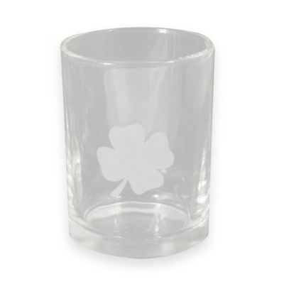 St. Patrick's Day Etched Clover Double Old Fashioned Glasses (Set of 4)