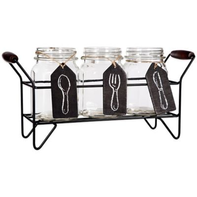 Del Sol Panel 3-Section Flatware Caddy Set