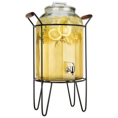 Del Sol™ Panel 3-Gallon Beverage Dispenser with Caddy