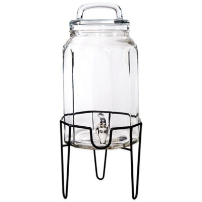 Del Sol™ Panel 1.5-Gallon Beverage Dispenser with Loop Lid