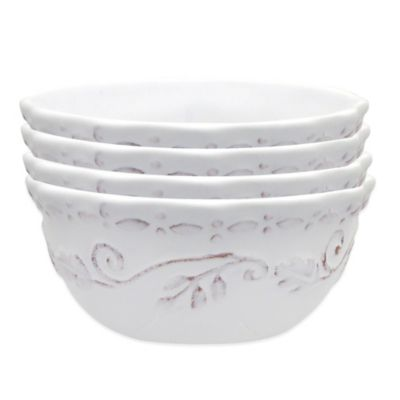 Dena™ Home Pavillion All-Purpose Bowls in White (Set of 4)