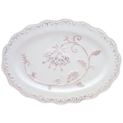 Dena™ Home Pavillion Oval Platter in White