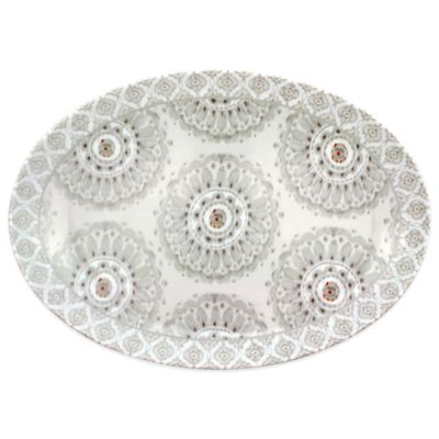 Dena™ Home Jaida Bone Oval Platter in White