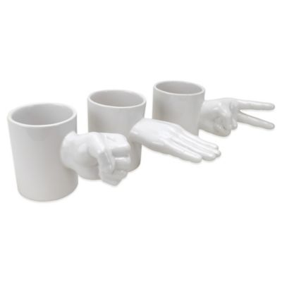 Big Mouth Toys Rock, Paper, Scissors 3-Piece Mug Set