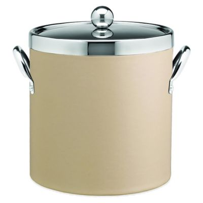 Kraftware™ Contempo Beige 3 qt. Ice Bucket with Chrome Lid