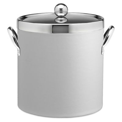 Kraftware™ Contempo White 3 qt. Ice Bucket with Chrome Lid