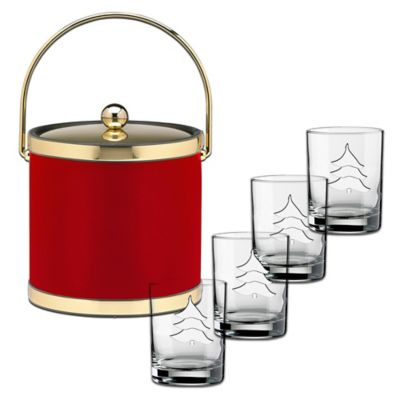 Kraftware™ Sophisticates Red Brushed Brass 5-Piece Holiday Set