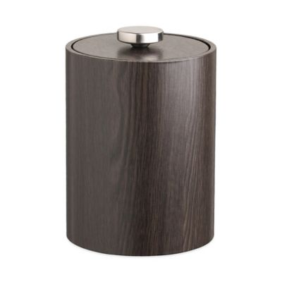 Kraftware™ Woodcraft Ebony 2 qt. Tall Ice Bucket with Vinyl Lid