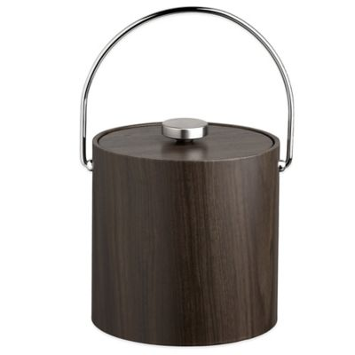 Kraftware™ Woodcraft Ebony 3 qt. Ice Bucket with Bale Handle and Vinyl Lid