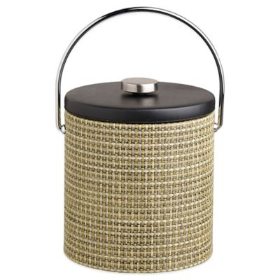 Kraftware™ Woven Verde 3 qt. Ice Bucket with Black Vinyl Lid