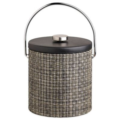 Kraftware™ Woven Onyx 3 qt. Ice Bucket with Black Vinyl Lid