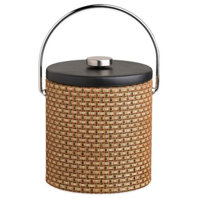 Kraftware™ Woven Topaz 3 qt. Ice Bucket with Black Vinyl Lid