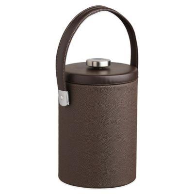 Kraftware™ Cosmopolitan Mocha 2 qt. Tall Ice Bucket with Leatherette Lid