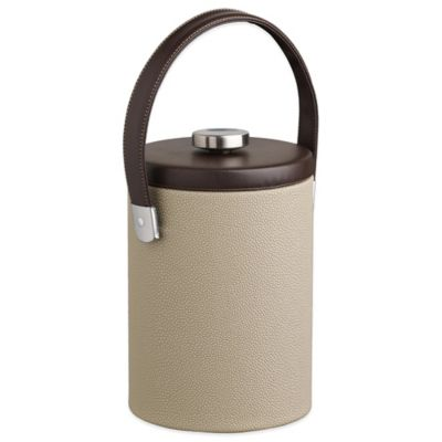 Kraftware™ Cosmopolitan Latte 2 qt. Tall Ice Bucket with Leatherette Lid