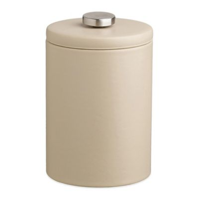 Kraftware™ Contempo 2-Quart Tall Faux Leather Ice Bucket in Beige with Lid