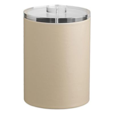 Kraftware™ Contempo 2-Quart Tall Ice Bucket in Beige with Lucite Lid