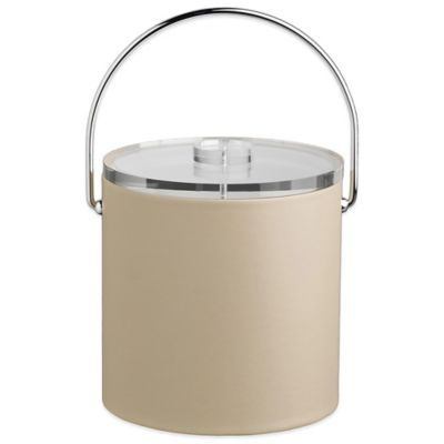 Kraftware™ Contempo 3 qt. Canvas Ice Bucket in Beige with Bale Handle and Lucite Lid