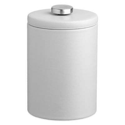 Kraftware™ Contempo 2 qt. Tall Faux Leather Ice Bucket in White with Lid
