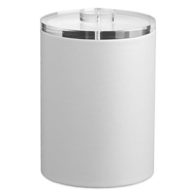 Kraftware™ Contempo 2-Quart Tall Ice Bucket in White with Lucite Lid