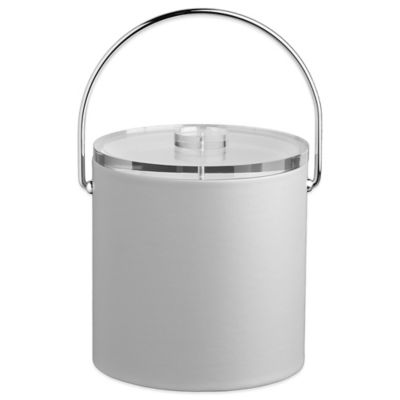 Kraftware™ Contempo 3 qt. Tall Ice Bucket in White with Lucite Lid