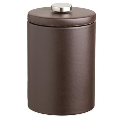 Kraftware™ Contempo 2-Quart Tall Faux leather Ice Bucket in Brown with Lid