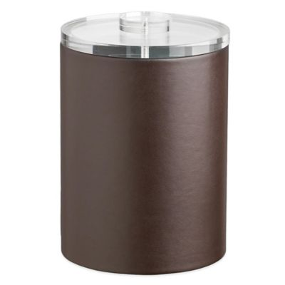 Kraftware™ Contempo 2-Quart Tall Ice Bucket in Brown with Lucite Lid
