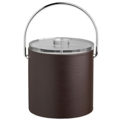 Kraftware™ Contempo 3-Quart Tall Ice Bucket in Brown with Lucite Lid