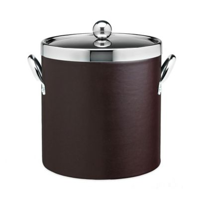 Kraftware™ Contempo Brown 3 qt. Ice Bucket with Chrome Lid