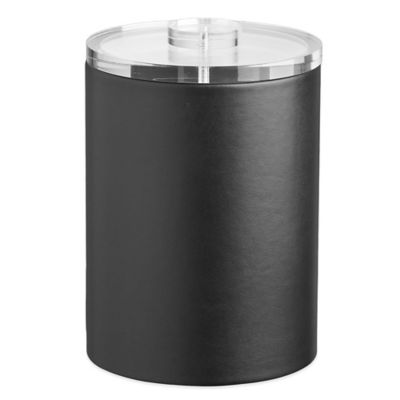 Kraftware™ Contempo 2-Quart Tall Ice Bucket in Black with Lucite Lid