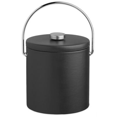 Kraftware™ Contempo Black 3 qt. Ice Bucket with Vinyl Lid and Bale Handle