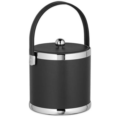 Black and Chrome Ice Bucket