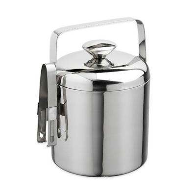 Kraftware™ Polished Stainless Steel 1.5 qt. Ice Bucket with Tongs
