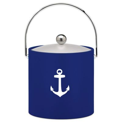 Kraftware™ 3 qt. Anchor Ice Bucket in Blue