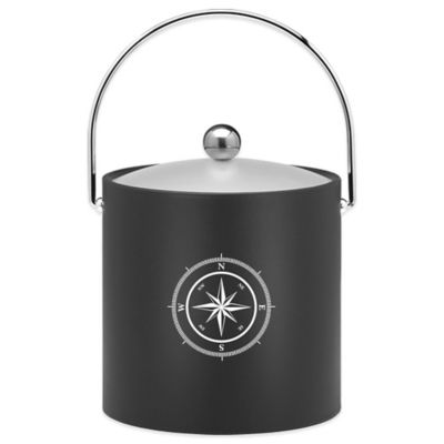 Kraftware™ 3 qt. Compass Point Ice Bucket in Black