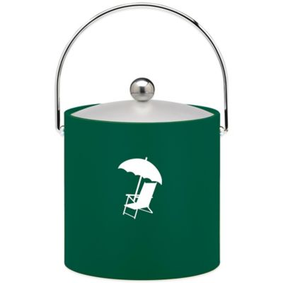 Kraftware™ 3 qt. Beach Chair & Umbrella Ice Bucket in Green