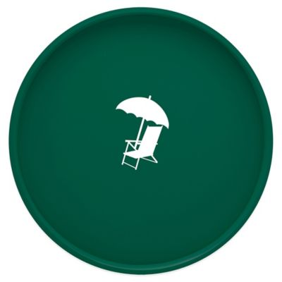 Kraftware™ Round Vinyl Beach Chair and Umbrella Serving Tray in Green