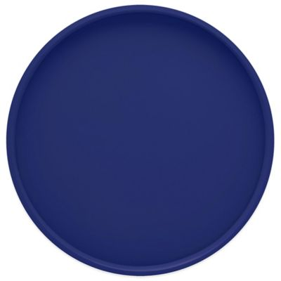 Kraftware™ Round Vinyl Serving Tray in Royal Blue