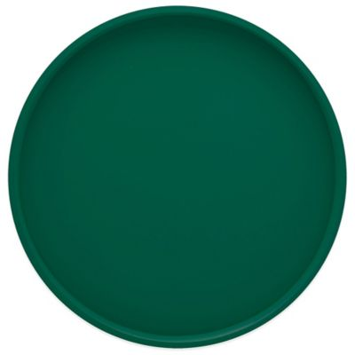 Kraftware™ Round Vinyl Serving Tray in Tropic Green