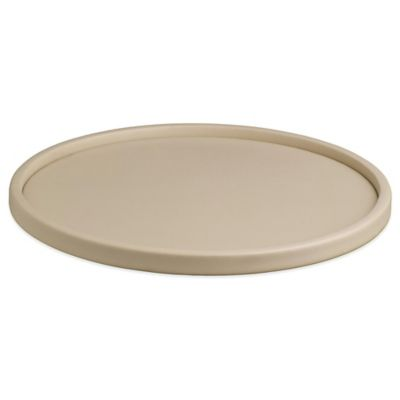 Kraftware™ Contempo Round Vinyl Serving Tray in Beige