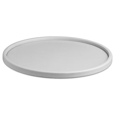 Kraftware™ Contempo Round Vinyl Serving Tray in White