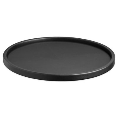 Kraftware™ Contempo Round Vinyl Serving Tray in Black